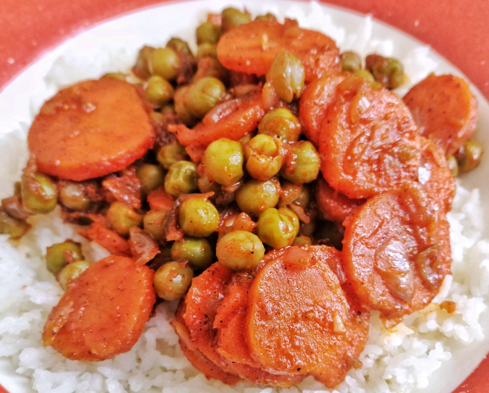Peppery peas and carrots